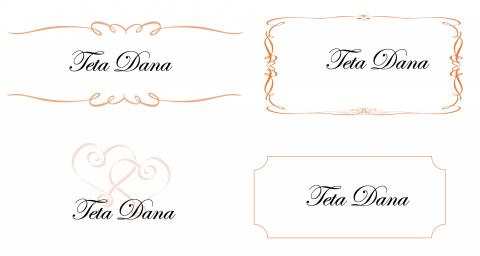 Svatební jmenovky - vzor ke stažení ve Wordu