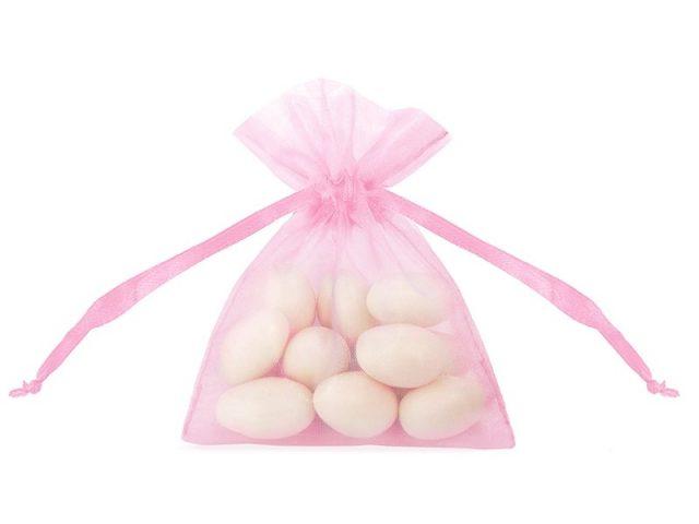 Růžový organzový pytlíček – 20 ks