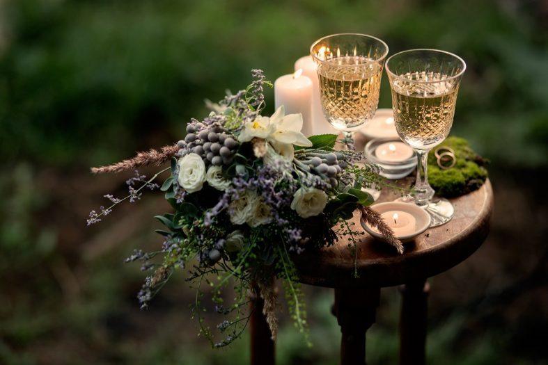Svatební dekorace na podzimní svatbě