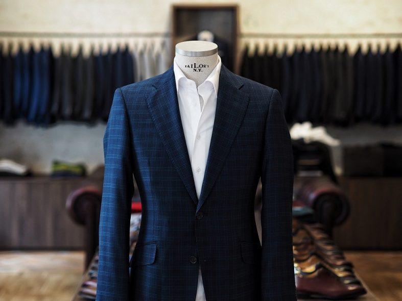 Tmavě modrý pánský svatební oblek