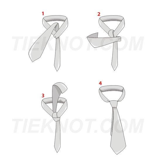 Poloviční kravatový uzel Windsor