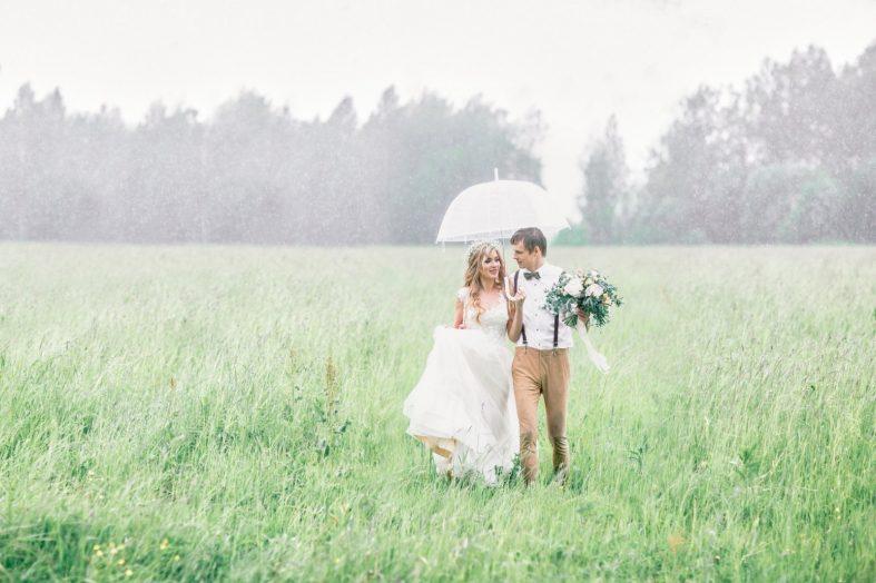 Svatební focení v dešti