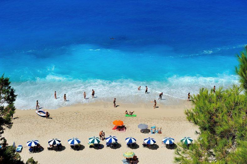 Pláž Golden Beach Lefkada