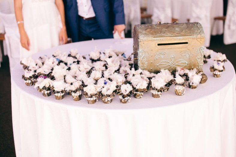 Luxusní svatební pokladnička na peníze od svatebních hostů