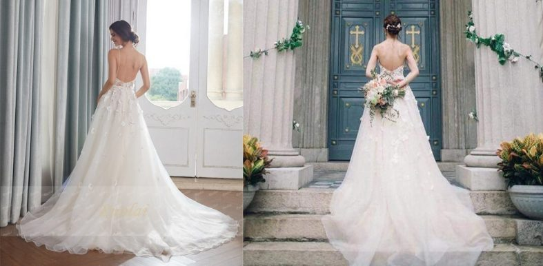 Srovnání svatebních šatů z Aliexpressu se skutečností