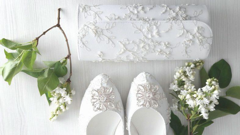 Svatební boty a kabelka na zakázku