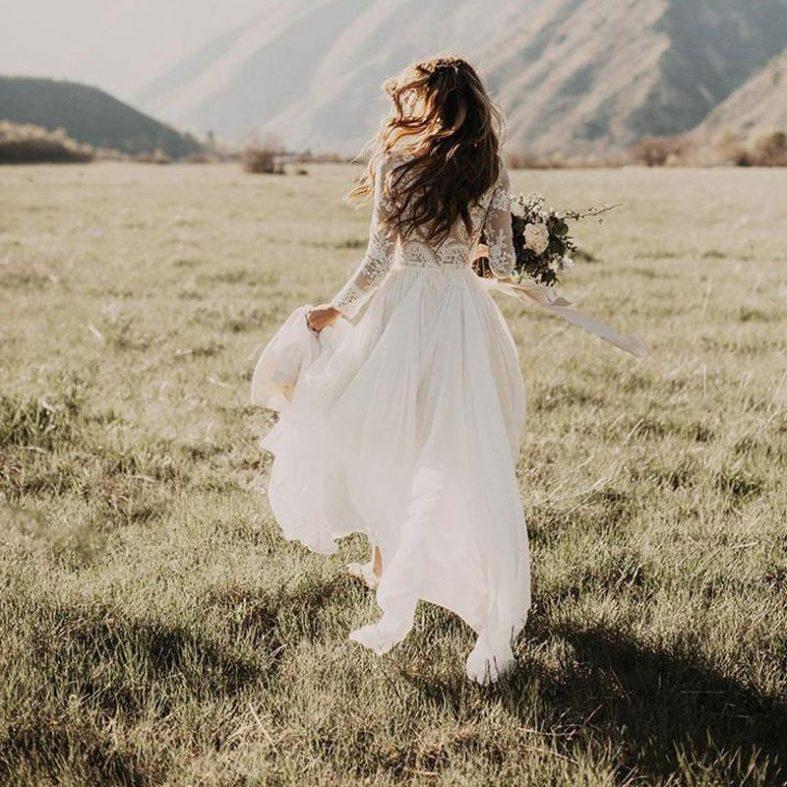 Svatební šaty v boho stylu z Aliexpressu