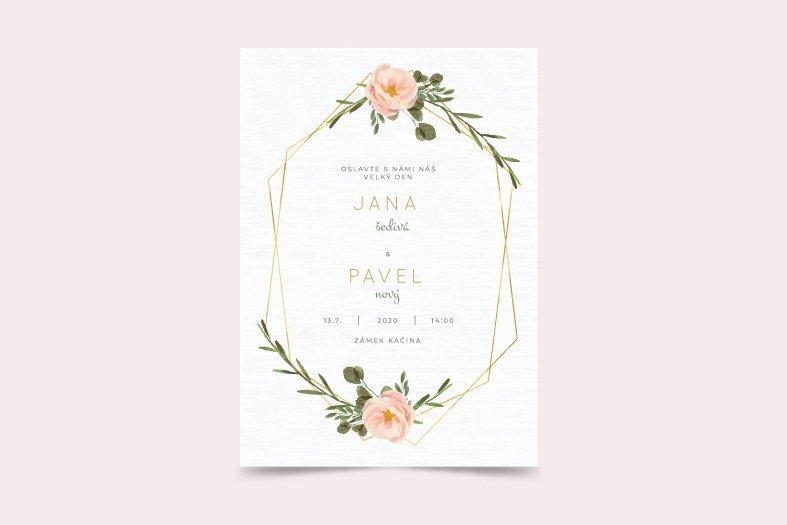Svatební oznámení - vzor