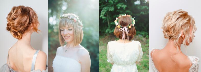 Svatební účesy pro polodlouhé vlasy