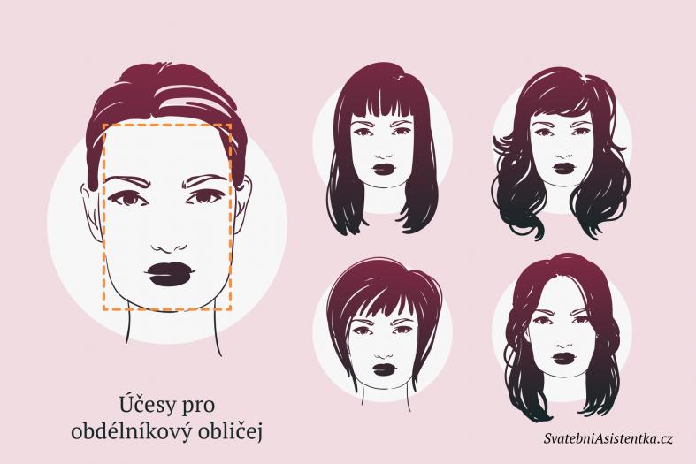 Svatební účesy pro obdélníkový obličej