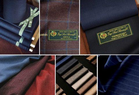 Materiály používané pro šití obleků na míru