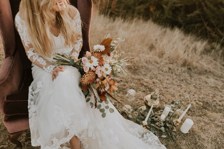 Svatební šaty v boho stylu