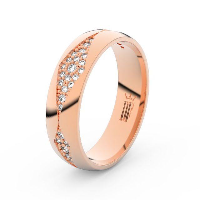 Dámský snubní prsten  z růžového zlata a diamanty, Danfil DF 3074