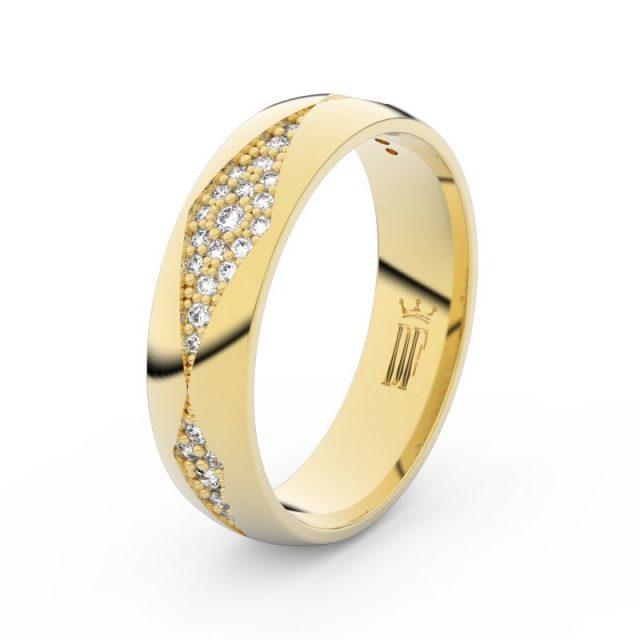 Dámský snubní prsten ze žlutého zlata, s brilianty, Danfil DF 3074