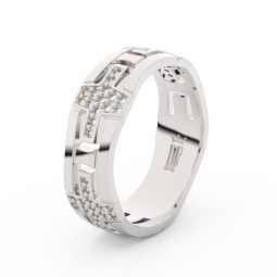 Dámský snubní prsten z bílého zlata Danfil DLR3042