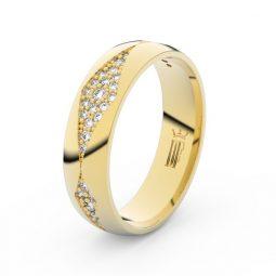 Dámský snubní prsten ze žlutého zlata, Danfil DLR3074