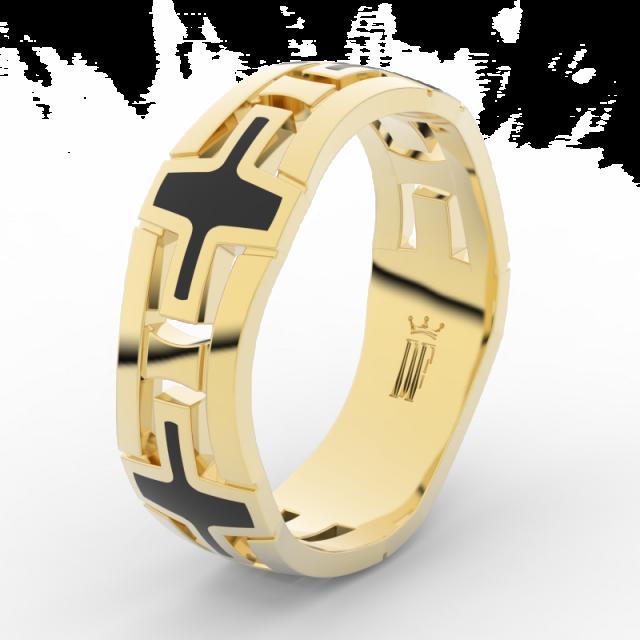 Pánský snubní prsten ze žlutého zlata, Danfil DLR3043