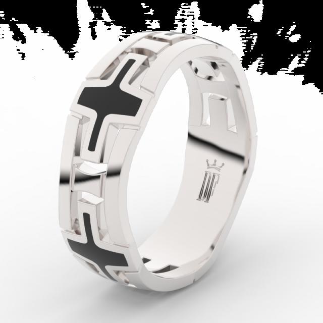 Pánský snubní prsten z bílého zlata Danfil Danfil DLR3043