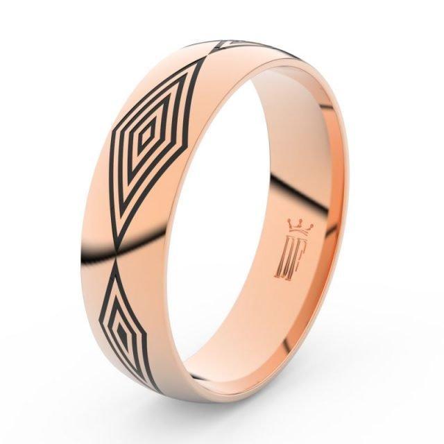 Pánský snubní prsten z růžového zlata, Danfil DLR3075