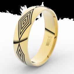 Pánský snubní prsten ze žlutého zlata, Danfil DLR3075