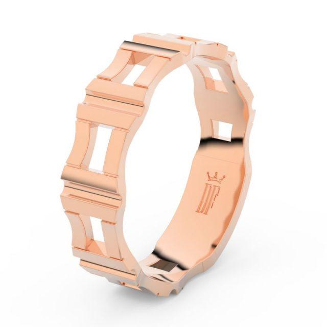 Pánský snubní prsten z růžového zlata, DLR3085