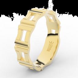 Pánský snubní prsten ze žlutého zlata, Danfil DLR3085