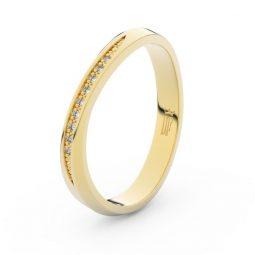 Dámský snubní prsten ze žlutého zlata se zirkony, Danfil DLR3017