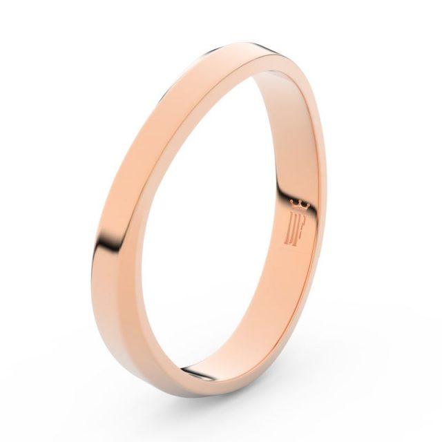 Pánský snubní prsten z růžového zlata, Danfil DLR3018