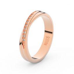 Dámský snubní prsten z růžového zlata se zirkony, Danfil DLR3019