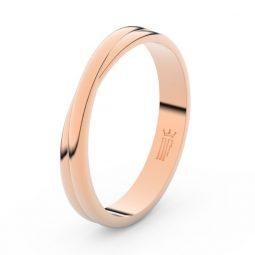 Pánský snubní prsten z růžového zlata, Danfil DLR3020