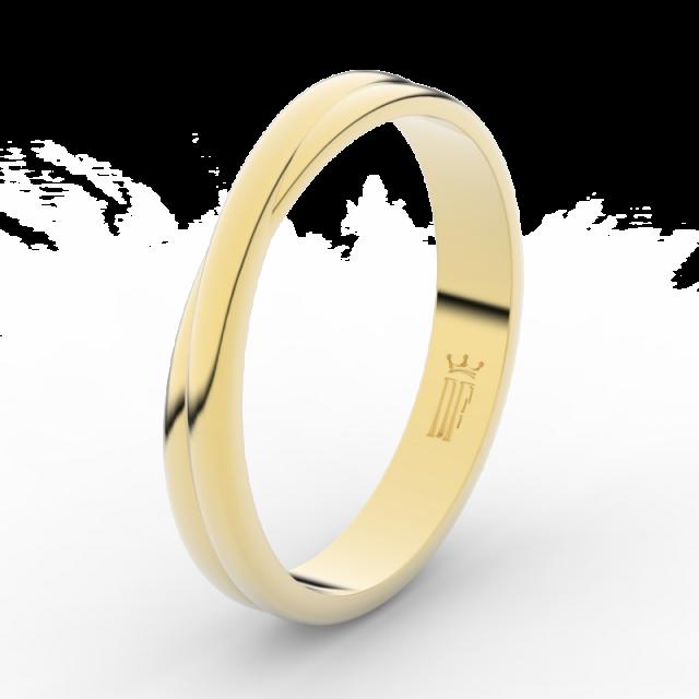 Pánský snubní prsten ze žlutého zlata, Danfil DLR3020