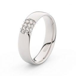 Dámský snubní prsten z bílého zlata se zirkonem, Danfil DLR3021