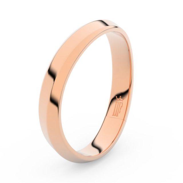 Pánský snubní prsten z růžového zlata, Danfil DLR3024