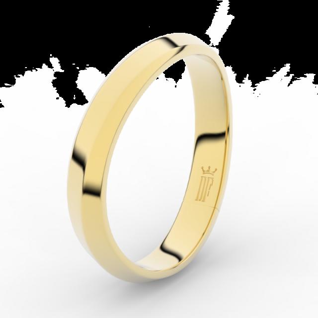 Pánský snubní prsten ze žlutého zlata, Danfil DLR3024