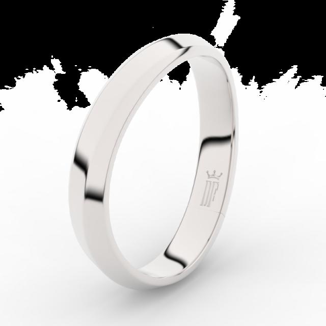 Pánský snubní prsten z bílého zlata Danfil DLR3024