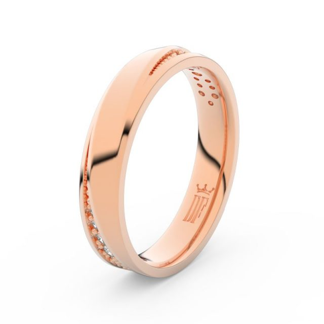 Dámský snubní prsten z růžového zlata se zirkony, Danfil DLR3025