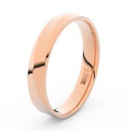 Pánský snubní prsten z růžového zlata, DLR3026