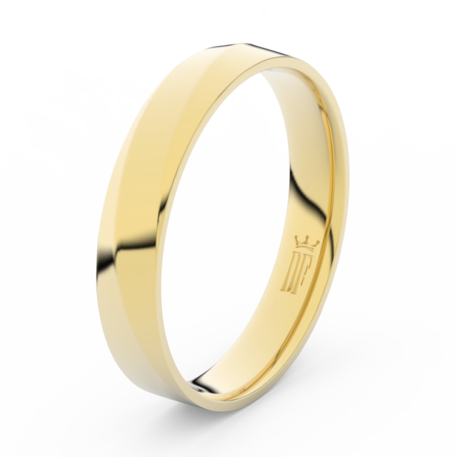 Pánský snubní prsten ze žlutého zlata, Danfil DLR3026
