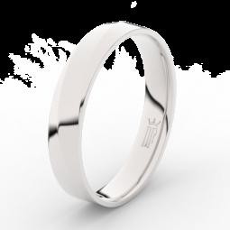 Pánský snubní prsten z bílého zlata Danfil DLR3026