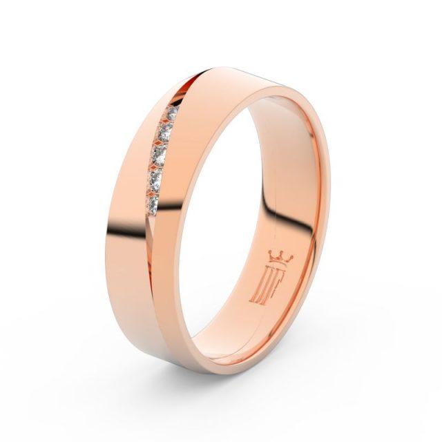 Dámský snubní prsten z růžového zlata se zirkony, Danfil DLR3034