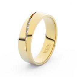 Dámský snubní prsten ze žlutého zlata se zirkony, Danfil DLR3034
