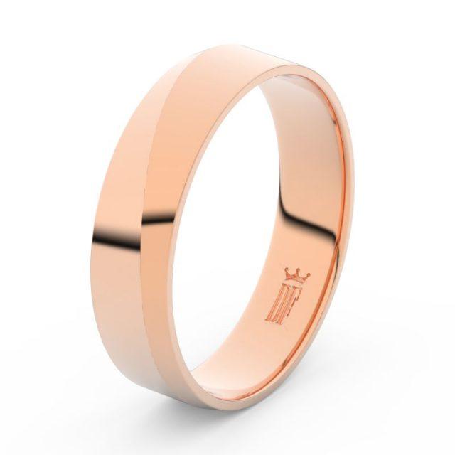 Pánský snubní prsten z růžového zlata, Danfil DLR3035