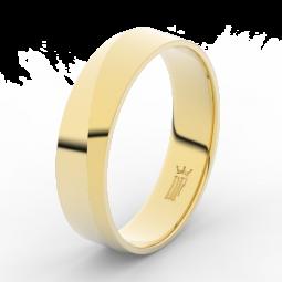 Pánský snubní prsten ze žlutého zlata, Danfil DLR3035