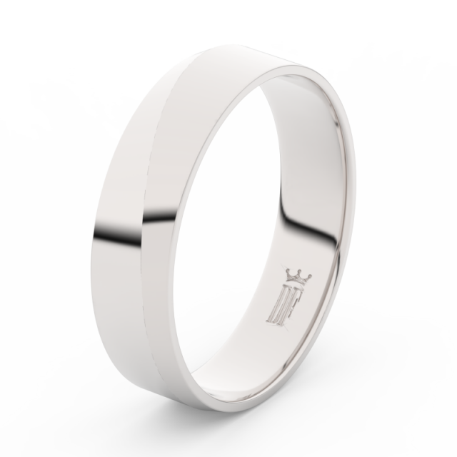 Pánský snubní prsten z bílého zlata Danfil DLR3035