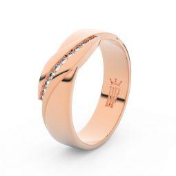 Dámský snubní prsten z růžového zlata se zirkony, Danfil DLR3039