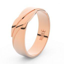 Pánský snubní prsten z růžového zlata, Danfil DLR3040