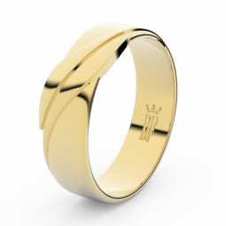 Pánský snubní prsten ze žlutého zlata, Danfil DLR3040