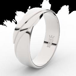 Pánský snubní prsten z bílého zlata Danfil DLR3040