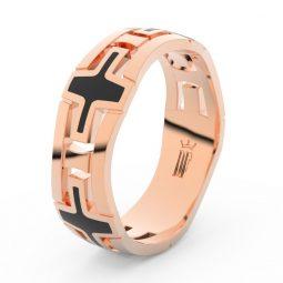 Pánský snubní prsten z růžového zlata, Danfil DLR3043