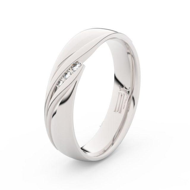 Dámský snubní prsten z bílého zlata se zirkony, Danfil DLR3044